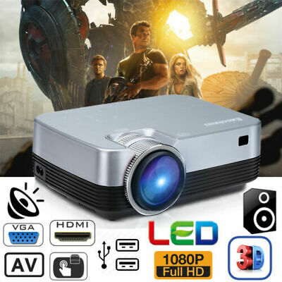 AU109.99 • Buy 5000 Lumens 3D LED Video Projector 1080P FHD Multimedia HDMI USB Home Theater AU