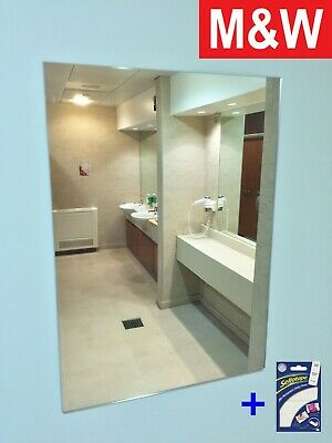 New A3 A4 Plastic Wall Mirror Tiles Anti-shatter Safety Acrylic Perspex Sheet • 9.99£
