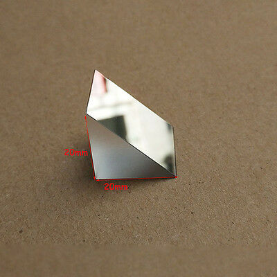 $21.05 • Buy 2pcs 20x20x20mm K9 Optical Glass Right Angle Slope Reflecting Triangular Prism