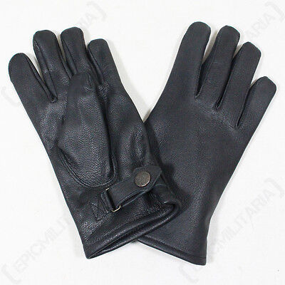 $30.95 • Buy German Army Lined Leather Gloves - Winter Lined Military Combat Black Mens New