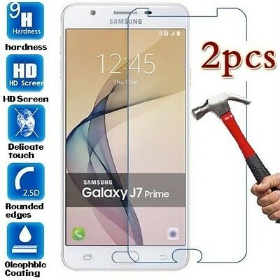 AU5.95 • Buy 2x For Samsung Galaxy J7 Prime Tempered Glass /Pet Screen Protector Film Guard
