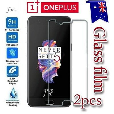 AU5.99 • Buy 2X Oneplus 3 3T | 5 5T Five Tempered Glass / Plastic Screen Protector Film Guard