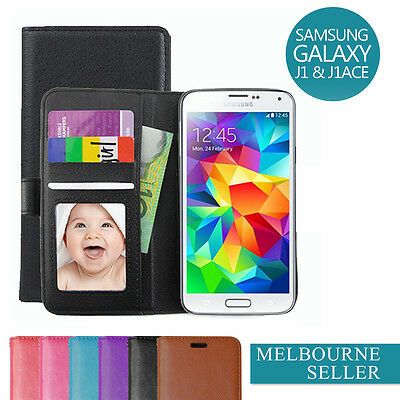 AU5.93 • Buy Galaxy J1 / J1 Ace / 2016 / J3 J2 Case, Card Wallet Leather Cover For Samsung