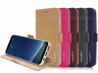 $ CDN13.15 • Buy Genuine Leather Wallet Card Holder Case Cover For Samsung Galaxy S8 / S9 Plus
