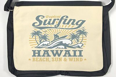 AU34.99 • Buy Satchel Shoulder Bag Nostalgic Tractor Rative Hawaii Surfing Print
