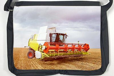 AU34.99 • Buy Satchel Shoulder Bag Retro Tractor Factory Combine Harvester Print