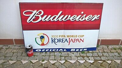 $ CDN303.88 • Buy Metal Advertising ORIGINAL SIGN BUDWEISER Beer Sponsor 2002 FIFA World Soccer