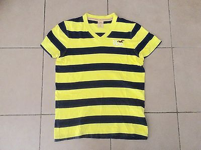 AU15 • Buy HOLLISTER  By A&F     V Neck  T Shirt   Yellow X Navy    Size S