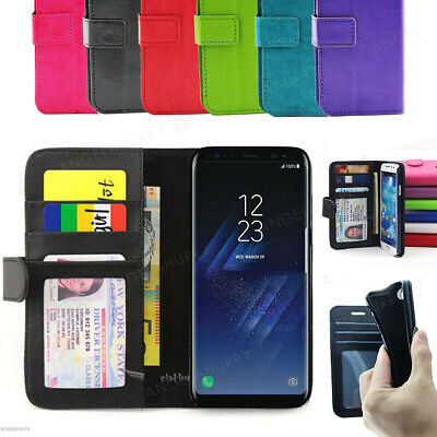 AU6.93 • Buy Samsung Galaxy S6 Edge Plus S7 Edge S8 S8 Plus Wallet Flip Leather Case Cover