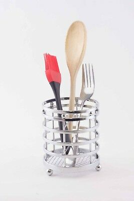 AU12 • Buy Chrome Cutlery Holder Dryer Kitchen Utensil Basket Drainer Stand Caddy RRP $16