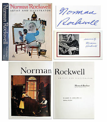 $ CDN327.75 • Buy Norman Rockwell Signed Book ''Artist And Illustrator''