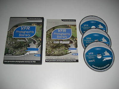 VFR SCENERY Generation X Volume 2 Vsn 1 Central England & Mid Wales Pc DVD FSX • 9.99£