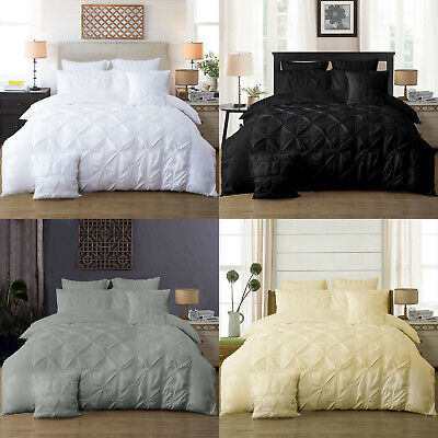 AU39.99 • Buy Diamond Pintuck Double/Queen/King/Super King Size Bed Duvet/Doona/Quilt Cover