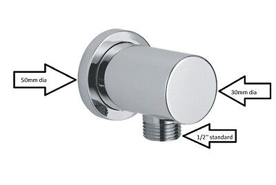 £12.99 • Buy Scudo Wall Shower Outlet Elbow Round