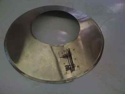 4 Inch Stove Pipe Stainless Steel Storm Collar -- Made In MAINE, USA!!  • 14.84£