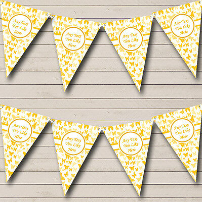 £6.99 • Buy Beautiful Golden Yellow Butterfly Children's Birthday Party Bunting Banner