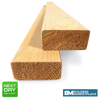 CLS Timber 2x2 3x2 4x2 - Stud Timber Packs Graded C16 C24 | Choose Size & Length • 27.01£