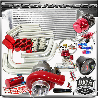 $695.45 • Buy DIY Combo RED GT35 Turbo Kits /PSI BOOST UNIVERSAL INTERCOOLER/PIPING/BOV/TURBO