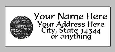 $2.25 • Buy 30pcs Personalized BibleVerse Return/Mailing Address Labels 1 X2.625  Free S/H