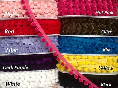 18mm JUMBO Ball Tassel  Pom Pom Trims Bobble Braid Fringe Craft Lace Hat Costum  • 2.25£