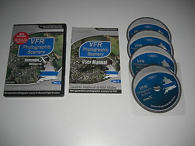 VFR SCENERY Generation X Volume 2 Version 2.0 Central England & Mid Wales Pc FSX • 13.99£