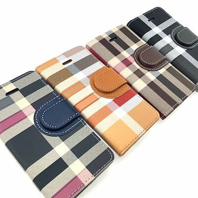 $ CDN6.99 • Buy Samsung Galaxy S6 S7 S7 EDGE S8 S9 PLUS + Leather Wallet Case Plaid Card Slots
