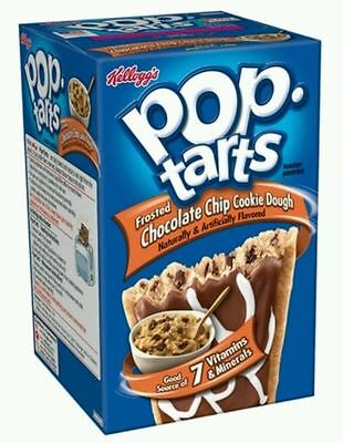 £6.99 • Buy Kellogg's Pop Tarts Frosted Chocolate Chip Cookie Dough 400g