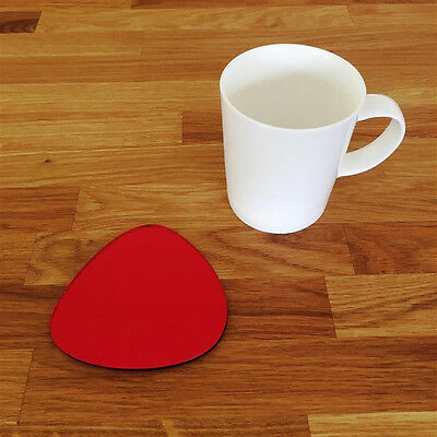 Pebble Shaped Coaster Set - Red Mirror • 19.29£