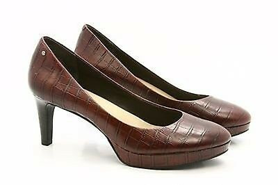 Rockport Adidas Adiprene Womens Pumps Heels Dress Shoes Size 7 Leather Croc Emb • 32.99£