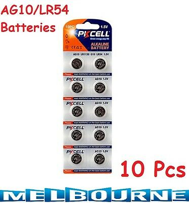 AU110.98 • Buy 10 Pcs AG10 GP189 SR54 LR1130 L1131 1.5V Alkaline Button Cell Battery PKCell