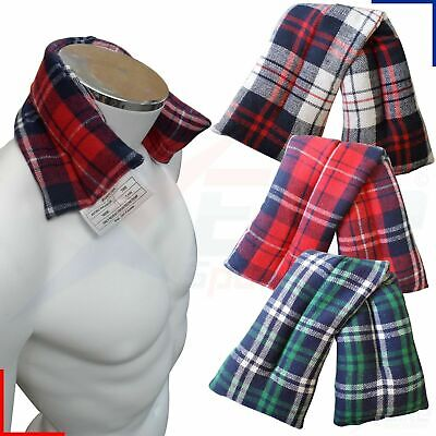 Hot Or Cold Tartan Fleece Wheat Heat Pack Bag Muscle Joint Pain Relief • 4.99£