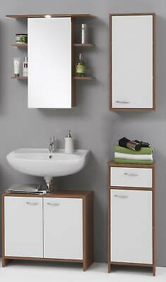 Madrid White & Walnut Finish Bathroom Cabinets / Mirror. Mix&Match. • 99.99£