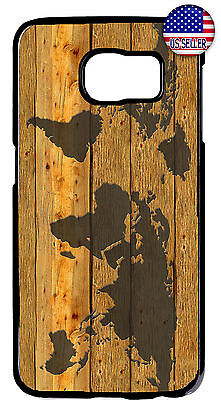 AU20.63 • Buy World Map Wood Style Rubber Case Cover For Samsung Galaxy S10e S10+ S9 Plus S8