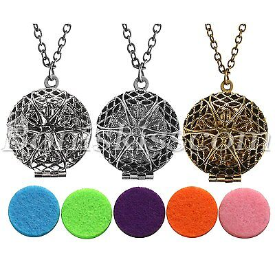 AU11.57 • Buy Women Fragrance Aromatherapy Essential Oil Diffuser Locket Pendant Necklace Gift