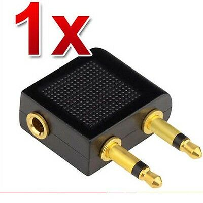 £0.99 • Buy Airplane Airline Headphone Adapter For Audio Jack 2 Plug Air Plane Connector