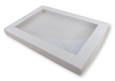 10 White A5 Window Boxes, Gift, Greeting Cards, Books, Dvds  Etc • 8.99£
