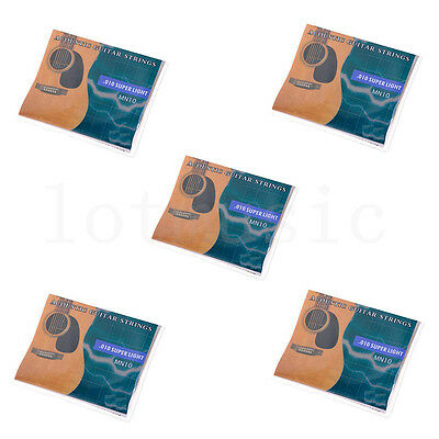 $ CDN18.65 • Buy 5Set Acoustic Guitar 6 Strings.010-.047' Super Light For Yamaha Size Replacement