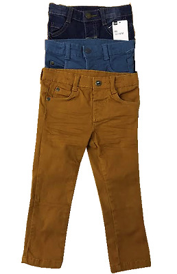 £2.50 • Buy Boys HEMA Summer Cotton 3 Color Trousers Pants For Toddlers 2M- 5Y
