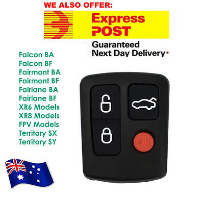AU8.70 • Buy FOR Ford Remote BA/BF Falcon Sedan/Wagon Keyless Car Remote 4 Button Keypad