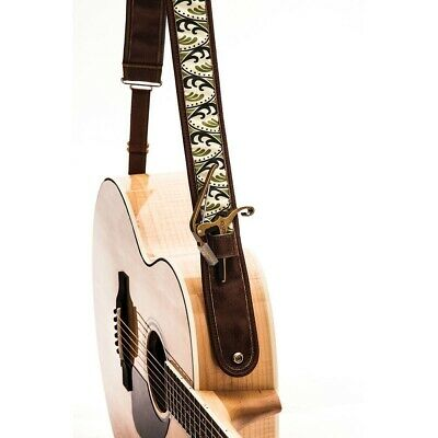 $ CDN53.27 • Buy Kyser Spring K Padded Brown Leather Guitar Strap With Capo Holder