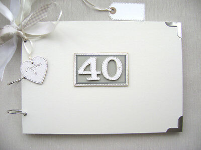 £17.70 • Buy Personalised. 40th Birthday A4 Size..photo Album/scrapbook/memory/guest Book.