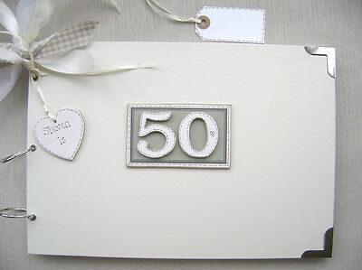 £17.70 • Buy Personalised. 50th Birthday A4 Size..photo Album/scrapbook/memory/guest Book.