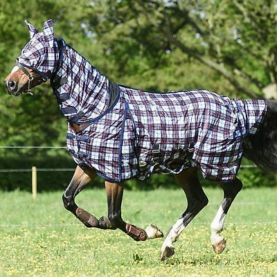 £32.99 • Buy Horse Pony Full Neck Fly Rug Summer Yard Outdoor Bug Protection FREE Fly Mask