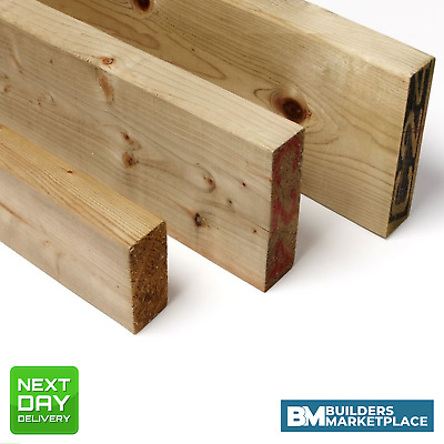 £24.77 • Buy Treated Timber 4x2 Tanalised Pressure Treated Timber C16 C24 47mm X 100mm