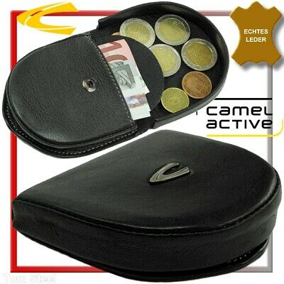 Camel Active Small Münzbürse Wallet Purse Black Leather Wallet • 23.59£