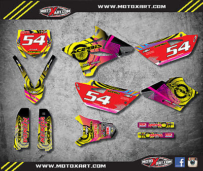 AU149.40 • Buy YAMAHA YZ 85 - 2015 - 2017 NEON STYLE Stickers Kit Full Custom Graphic Kit