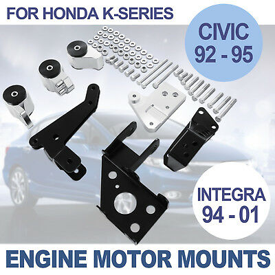 AU113.99 • Buy Motor Engine Mount Kit For Honda Civic 92-95 Swap Billet Integra 94-01 K20 K24