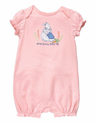 £14.54 • Buy NWT Gymboree Peter Rabbit PINK  Some Bunny Loves Me  Ruffled Bubble Romper 6-12
