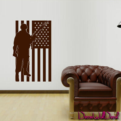 $28.99 • Buy Wall Decal Army Soldier Military Weapons American Flag Vest Room Nursery M1639