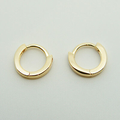 AU4.99 • Buy 18k Yellow Gold Plated Huggie Hoop 10mm Sleeper Earrings Non-allergenic AUS MADE